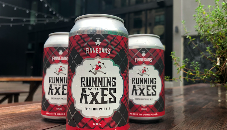Finnegan's Running With Axes cans.