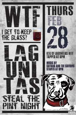 Lagunitas Steal the Pint Night at Black Dog