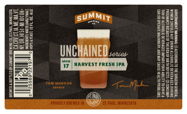 summit unchained 17, harvest fresh ipa